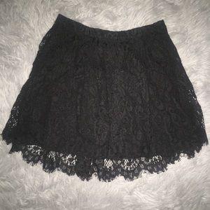 Forever 21 black mini lace skirt. High waist.